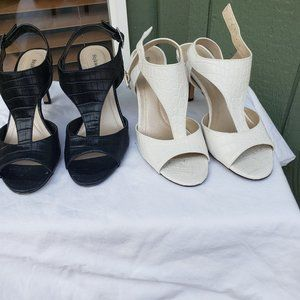 Style & Co Black and White Sandals Sz 8
